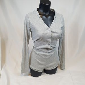 Other - Romper ~ Gray Ribbed ~ L ~ BA16